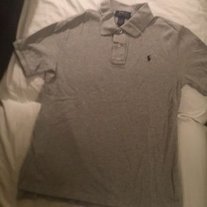 BOYS GREY POLO BY RALPH LAUREN SIZE LARGE